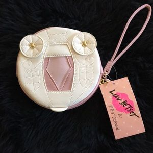 Betsey Johnson Pink and white coin purse